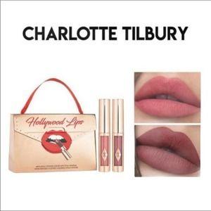 Charlotte Tilbury Hollywood Lips Lipstick Duo; NEW